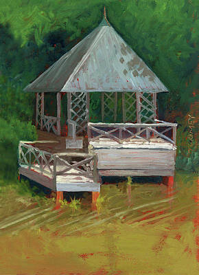 Boathouse Painting - Biltmore Boathouse 2.0 by Catherine Twomey