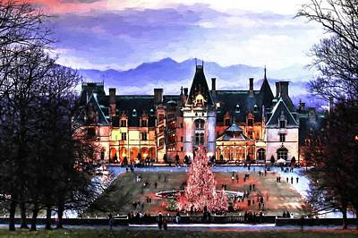 Photograph - Biltmore Christmas Painting by Carol Montoya