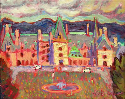 Asheville Painting - Biltmore Estate Colorful by Lisa Blackshear