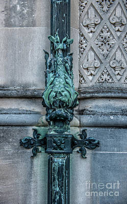 Photograph - Biltmore Estate Gutter In Copper Patina Green by Dale Powell