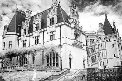 Photograph - Biltmore Estates, Biltmore Mansion, Biltmore Black White Prints  by Kathy Fornal