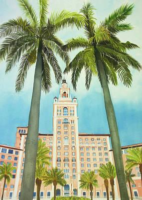 Wall Art - Painting - Biltmore Hotel by Terry Arroyo Mulrooney