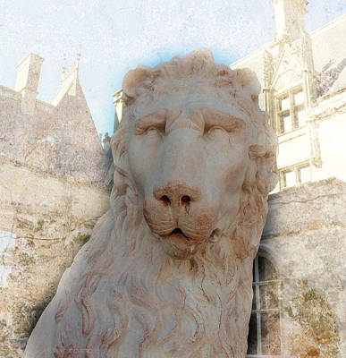 Photograph - Biltmore House Lioness by Kathy Barney