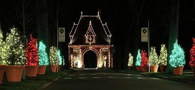 Asheville Photograph - Biltmore Lights Up The Gate House by Carol R Montoya