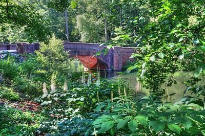 Biltmore Photograph - Biltmore Red Brick Bridge Through The Landscape  by Carol R Montoya