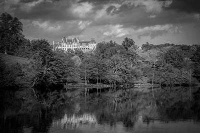 Photograph - Biltmore Reflection-bw by Joye Ardyn Durham