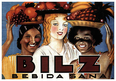 Mixed Media - Bilz Bebida Sana - Vintage Drinks Advertising Poster by Studio Grafiikka