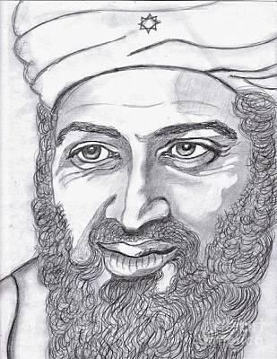 Osama Bin Laden Drawing - Bin Laden by Richard Heyman