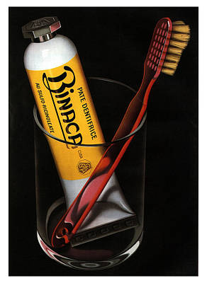 Mixed Media - Binaca Toothpaste - Vintage Advertising Poster by Studio Grafiikka