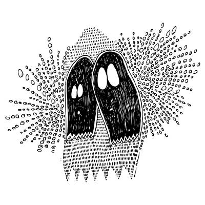 Ghost Drawing Drawing - Binary Ghost by Karl Addison