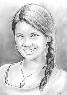Hunters Drawing - Bindi Irwin by Greg Joens
