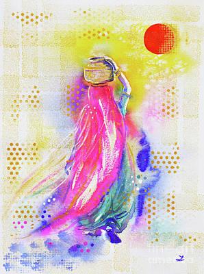 Chakra Painting - Bindi by Zaira Dzhaubaeva