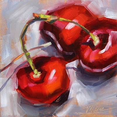 Painting - Bing Cherries by Tracy Male