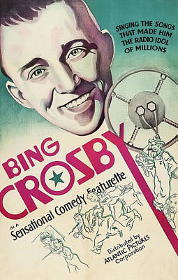 Mixed Media - Bing Crosby 1939 by Mountain Dreams