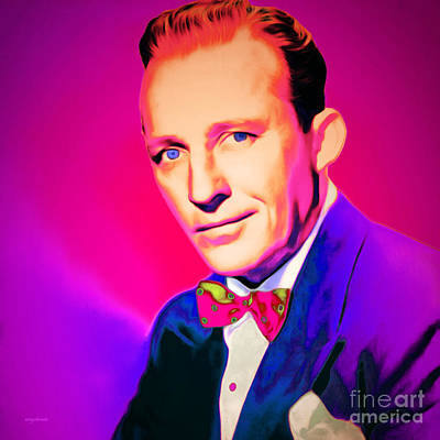 Celebrities Digital Art - Bing Crosby 20151226 Square by Wingsdomain Art and Photography