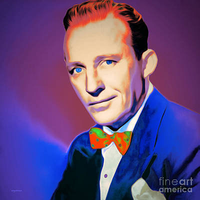Celebrities Digital Art - Bing Crosby 20151226 V2 Square by Wingsdomain Art and Photography