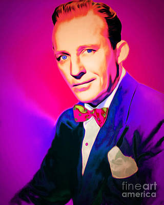 Celebrities Digital Art - Bing Crosby 20151226 by Wingsdomain Art and Photography