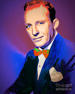 Celebrities Digital Art - Bing Crosby 20151226v2 by Wingsdomain Art and Photography