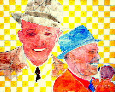 Bing Crosby And Frank Sinatra 1 Art Print by Richard W Linford