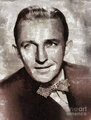 Music Paintings - Bing Crosby by Mary Bassett by Esoterica Art Agency