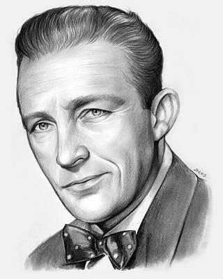 Singer Drawing - Bing Crosby by Greg Joens