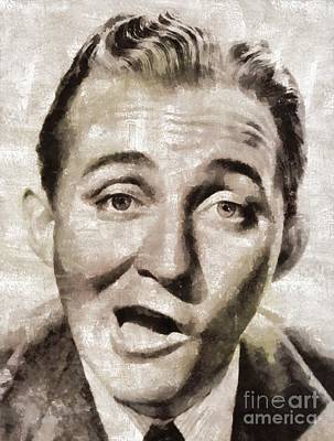 Crosby Painting - Bing Crosby, Hollywood Legend By Mary Bassett by Mary Bassett