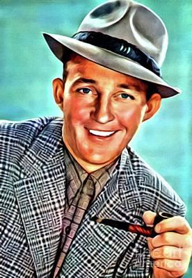 Bing Painting - Bing Crosby, Hollywood Legend by Mary Bassett