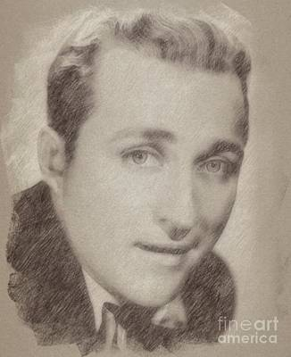 Singer Drawing - Bing Crosby, Singer And Actor by Frank Falcon
