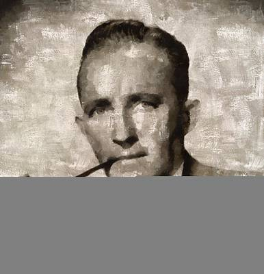Crosby Painting - Bing Crosby, Singer And Actor by Mary Bassett
