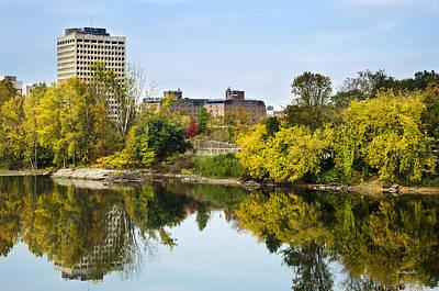 Photograph - Binghamton City Skyline Along The Susquehanna River by Christina Rollo