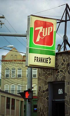 7up Sign Photograph - Binghamton New York - Frankie's Tavern by Frank Romeo