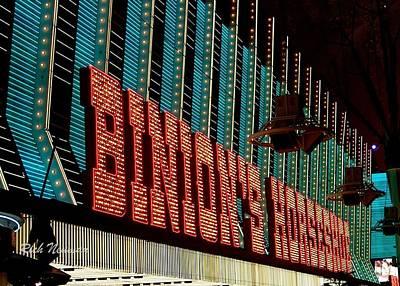 Photograph - Binions Marquee by Rich Neuman
