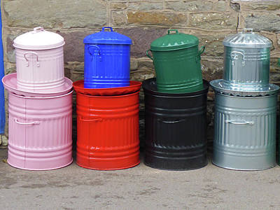 Photograph - Bins by Bruce