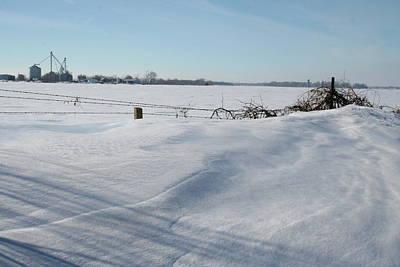 Snow Drifts Photograph - Bins Drift Cast by Dylan Punke