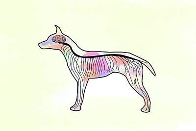 Digital Art - Bio Pop Doggy by Keshava Shukla