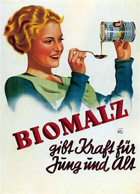 Mixed Media - Biomalz Syrup - Vintage Advetising Poster by Studio Grafiikka