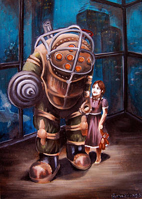 Video Game Painting - Bioshock by Emily Jones
