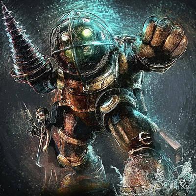 Digital Art - Bioshock by Taylan Apukovska