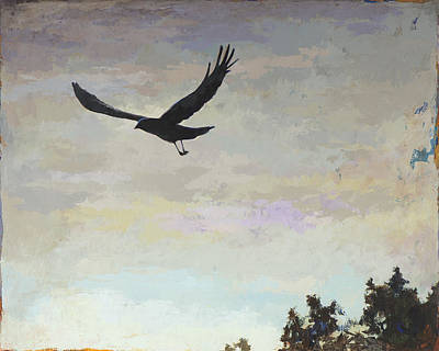 Crow Painting - Biosphere #4 by David Palmer