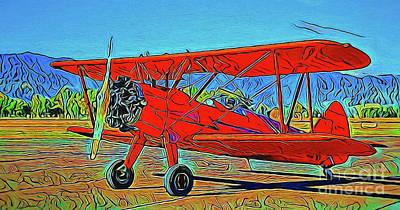 Photograph - Biplane 19718 by Ray Shrewsberry