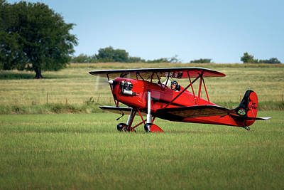 Photograph - Biplane On The Ground by James Barber