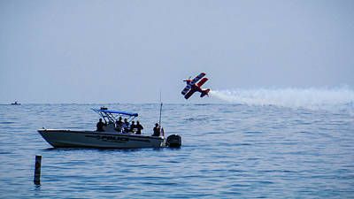 Photograph - Biplane Speed Trap Fort Lauderdale Air Show by Lawrence S Richardson Jr