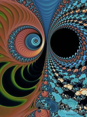 Digital Art - Bipolar Convo / Blue  by Elizabeth McTaggart
