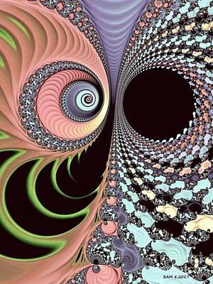 Digital Art - Bipolar Convo / Pink by Elizabeth McTaggart