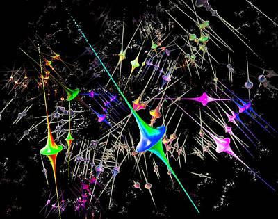 Bipolar Stars Art Print by Edelberto Cabrera