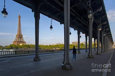 Photograph - Bir Hakeim And Eiffel Daytime by Brian Jannsen