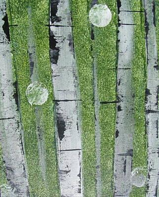 Birch - Green 1 Print by Jacqueline Athmann