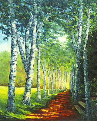 Historic Site Painting - Birch Alee, St. Gaudens National Historic Site, Nh by Elaine Farmer