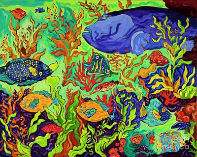 Painting - Birch Aquarium Sea Bass by Cathy Carey