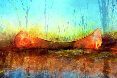 Birch Bark Canoe Art Print